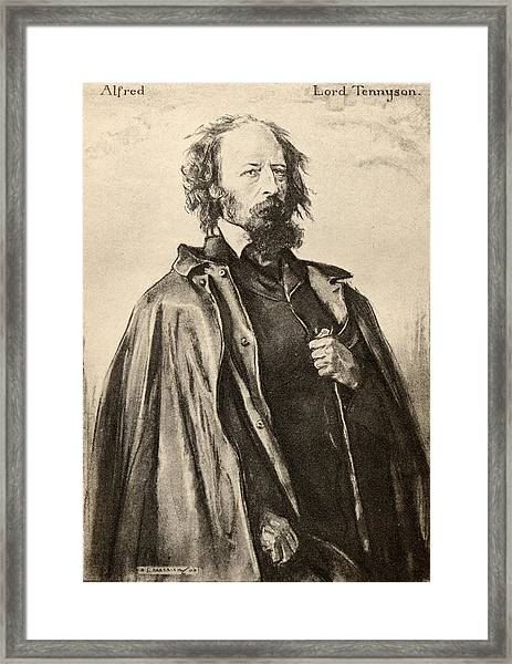 Tennyson  Of Aldworth And Freshwater Framed Print