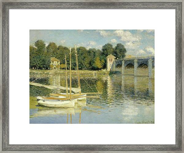 The Argenteuil Bridge Framed Print