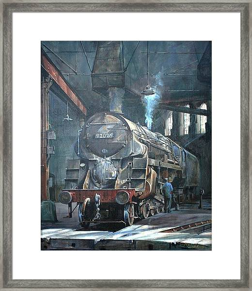 9f On Saltley Shed 1958. Framed Print by Mike Jeffries