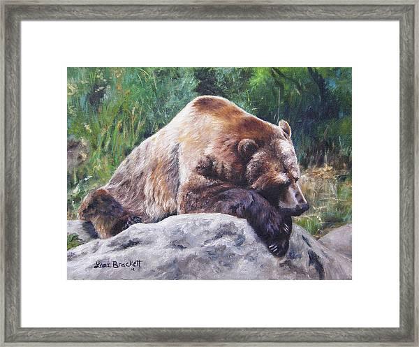 A Bear Of A Prayer Framed Print