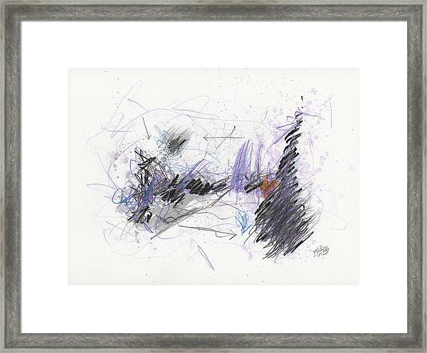A Beast Of A Night Framed Print