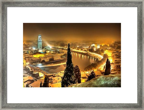 A Beautiful Blonde In Thick Paint Framed Print