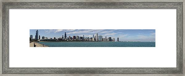 A Beautiful Day In Chicago Framed Print