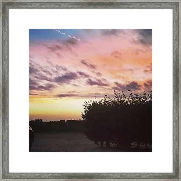 A Beautiful Morning Sky At 06:30 This Framed Print