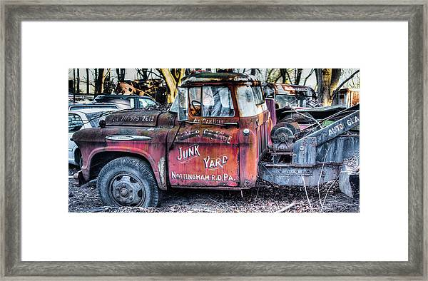 A Beautiful Rusty Old Tow Truck Framed Print
