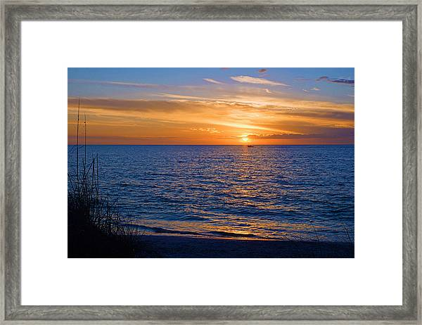 A Beautiful Sunset In Naples, Fl Framed Print