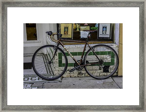 A Bicycle In The French Quarter, New Orleans, Louisiana Framed Print