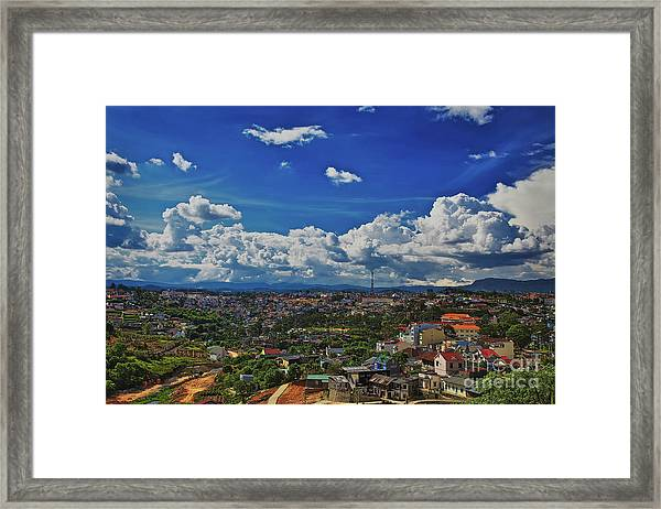 Framed Print featuring the photograph A Bit Of Disneyland In Dalat, Vietnam, Southeast Asia by Sam Antonio Photography