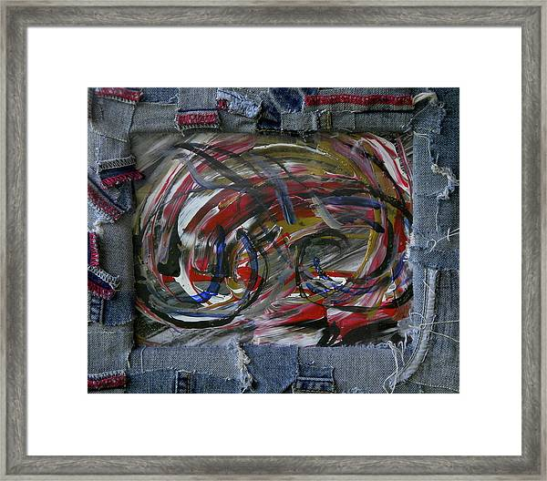 A Blue Rider Framed Print