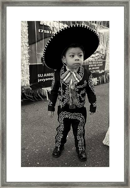 A Boy And His Sombrero 2 Framed Print