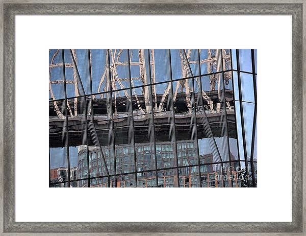 A Bridge Presses Down Framed Print by Andrea Simon