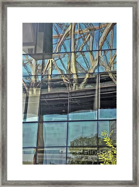A Bridge Too Near Framed Print by Andrea Simon
