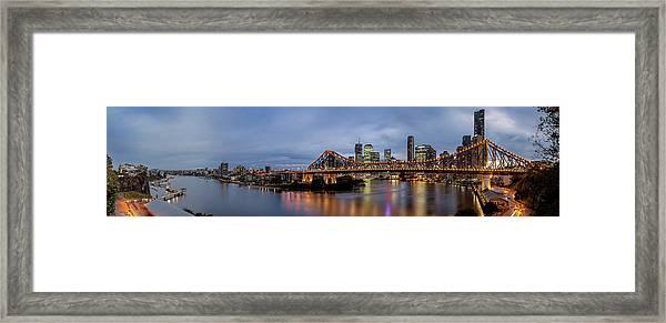 A Brisbane Story Framed Print