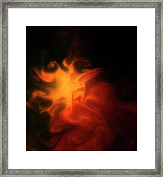 A Burning Passion Framed Print