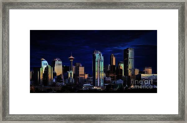 A Calgary Sunrise Framed Print
