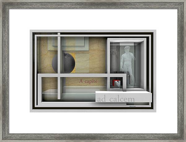A Capite Ad Calcem Framed Print