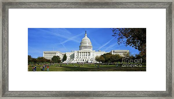 A Capitol View Framed Print