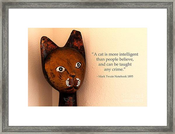 A Cat Is More Intelligent Framed Print