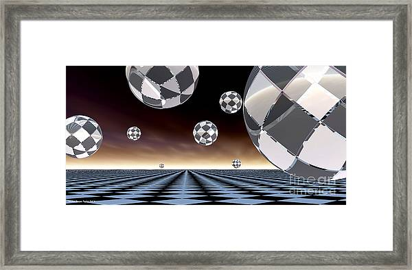 A Checkered Past Framed Print by Sandra Bauser Digital Art