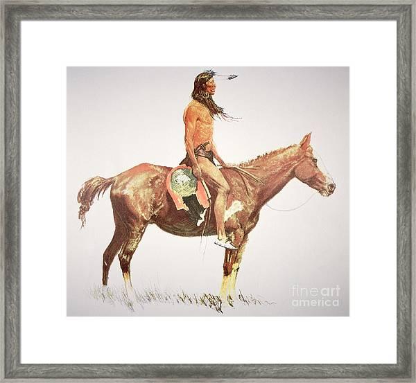 A Cheyenne Brave Framed Print