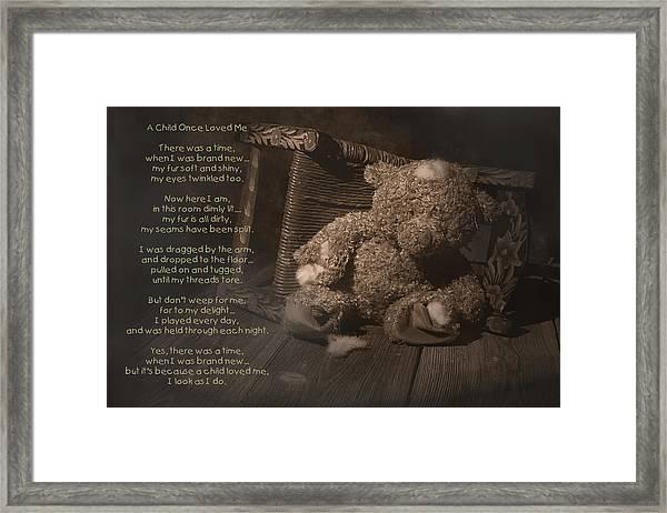 A Child Once Loved Me Poem Framed Print