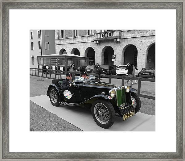 A Classic Vintage British Mg Car Framed Print
