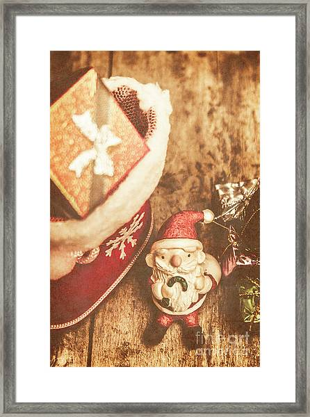 A Clause For A Merry Christmas  Framed Print