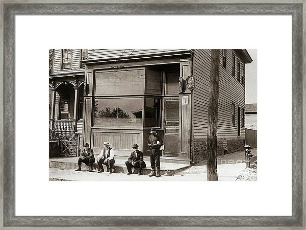 A Coal Miners Bar  George Ave Parsons Pennsylvania Early 1900s Framed Print