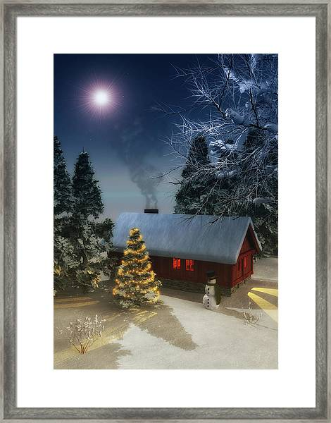 Framed Print featuring the painting  A Cold Winter by Jan Keteleer