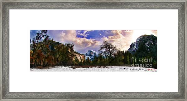 A Cold Yosemite Half Dome Morning Framed Print