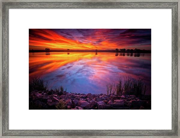A Colorado Birthday Sunrise Framed Print