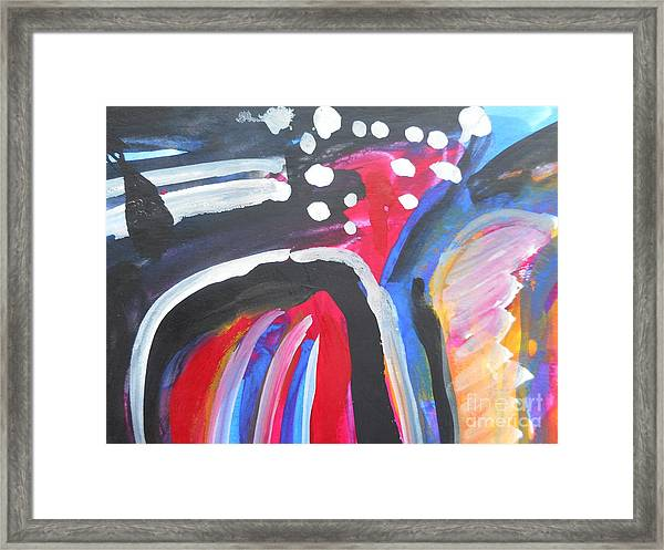 A Colorful Path Framed Print