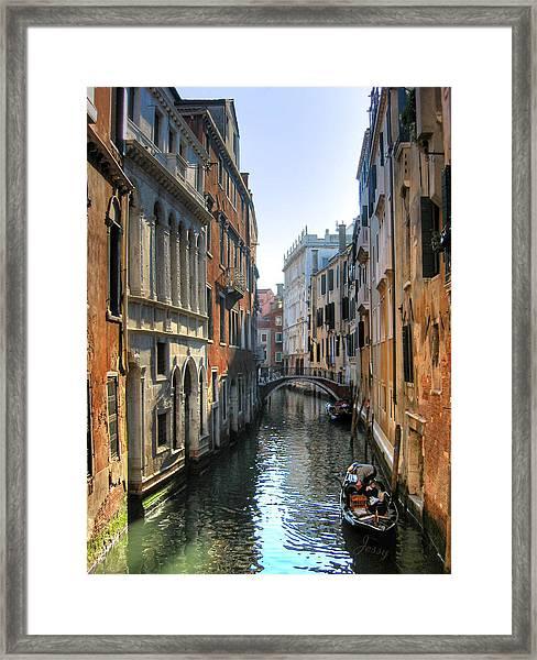 A Common Scene In Venice Framed Print