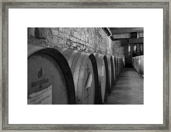 A Cool Dry Cellar Framed Print