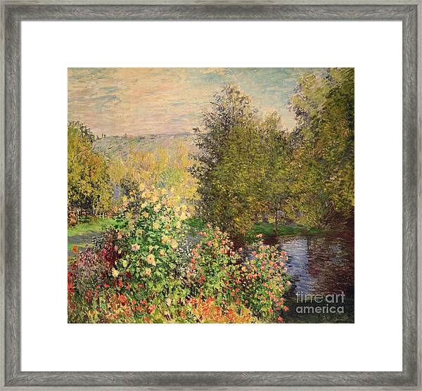 A Corner Of The Garden At Montgeron Framed Print