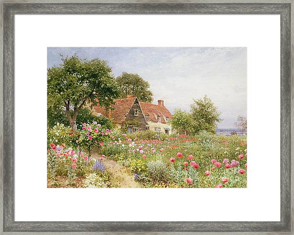 A Cottage Garden Framed Print