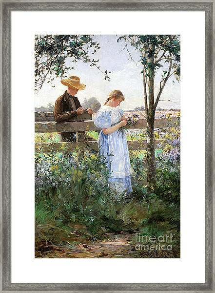 A Country Romance Framed Print