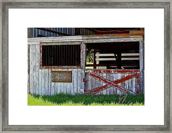 A Country Scene Framed Print