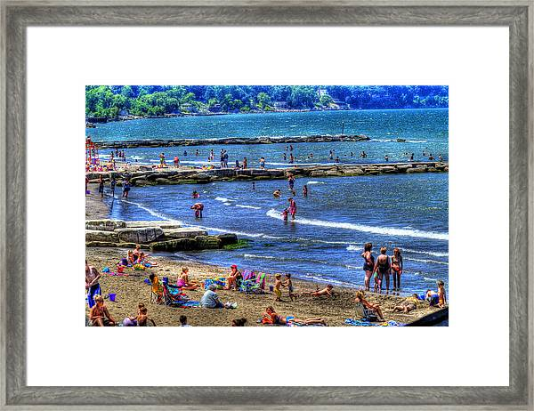 A Day At The Beach Framed Print by Neil Doren