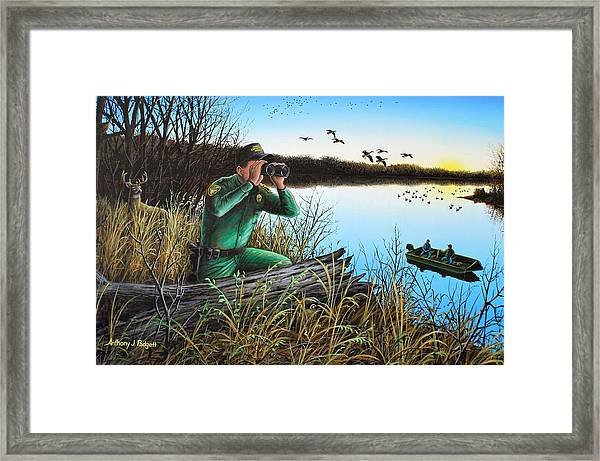 A Day At The Office - Icoo Framed Print
