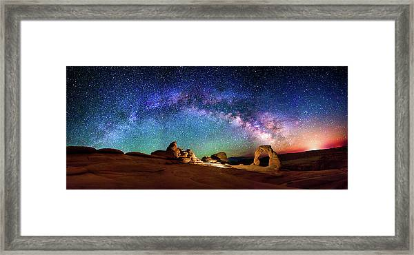 A Delicate Night Framed Print