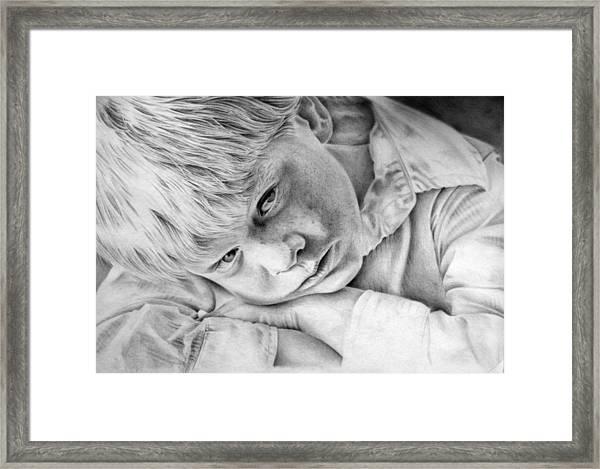 A Doleful Child Framed Print