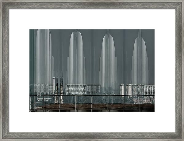 A Double Look. Framed Print