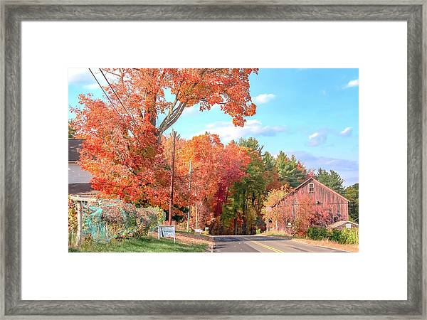 A Drive In The Country Framed Print