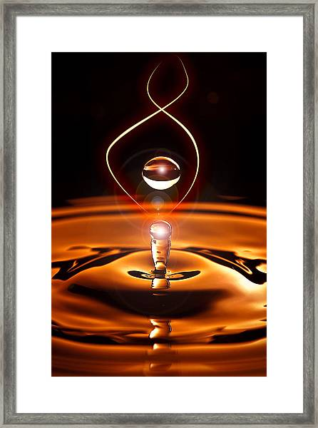 A Drop Of Light Framed Print