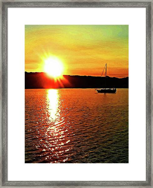 A Early Springtime Visit To Mystic Village In M Framed Print