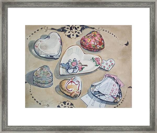 A Fair Of Hearts Framed Print