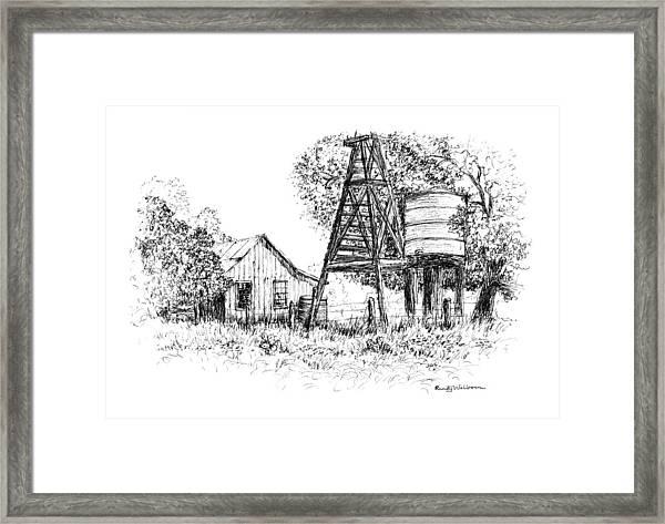 A Farm In Schroeder Framed Print