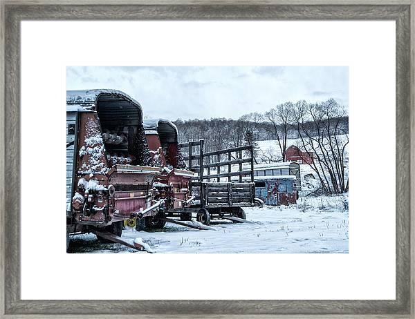 A Farmers Winter Framed Print
