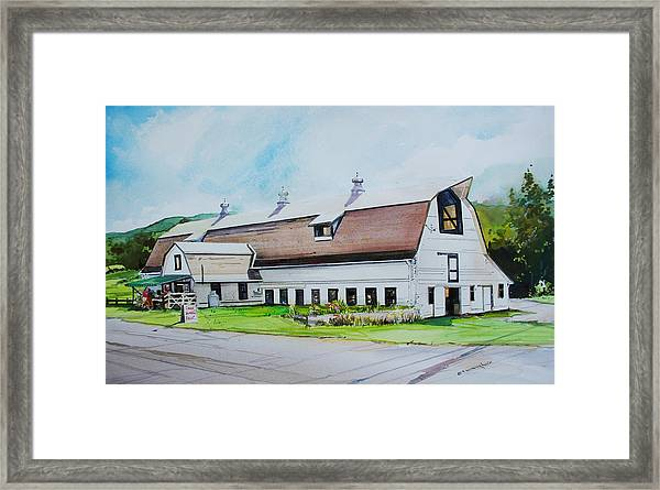 A Farmstand  In The Berkshires Framed Print